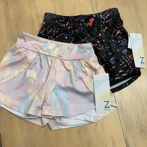 NWT Zella Kid's Running Shorts Pastel Size 4
